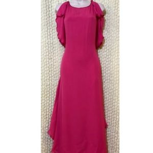 BCBG MAXAZRIA CAP SLEEVE WRAP DRESS PINK US XS#317